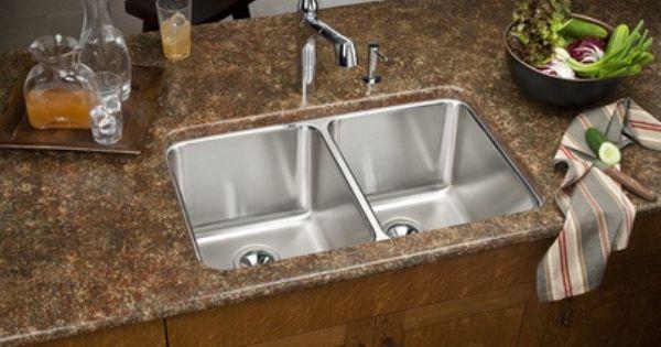Stainless Steel Sink Vs Granite : Elkay ELUH3220 31 1/4