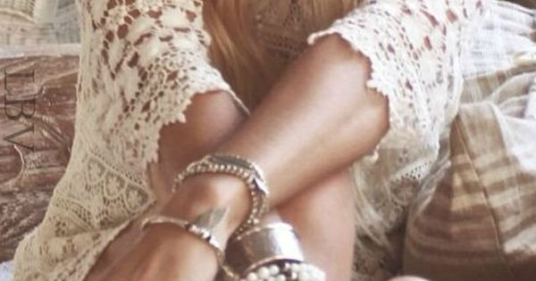 ☮ American Hippie Bohemian Boho Style ~ Crochet Dress love the hat