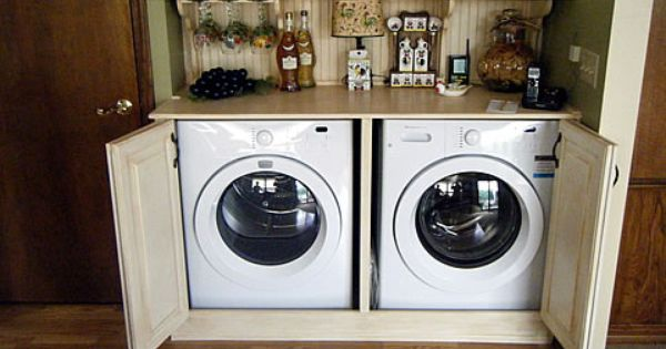 Cabinets For Washer And Dryer In The Kitchen Laundry
