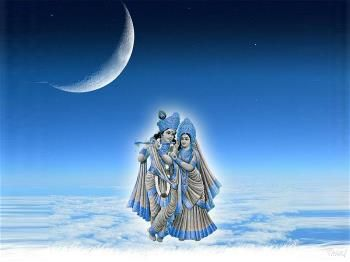 Radhe Krishna Image With Blue Background Hd Wallpapers For Desktop
