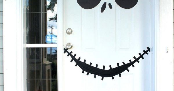 jack skellington gesicht auf der wei en haust r halloween pinterest haust ren gesicht und. Black Bedroom Furniture Sets. Home Design Ideas