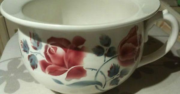 Rare Et Superbe Pot De Chambre Digoin Sarreguemines Cannes Pots Vaisselle Ancienne Vaisselle