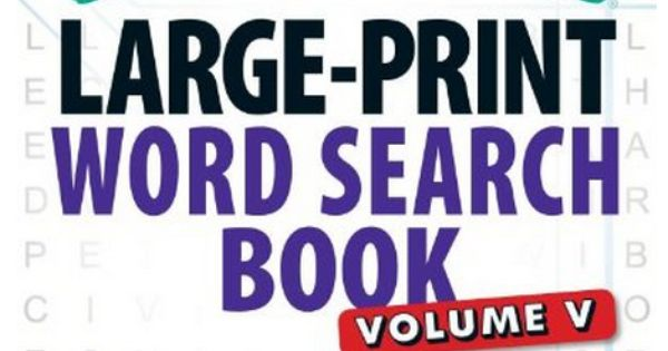 Word search puzzles, Large prints and Word search on Pinterest