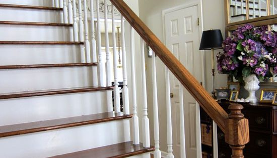 My Foyer Staircase Reveal : My foyer staircase makeover reveal stains