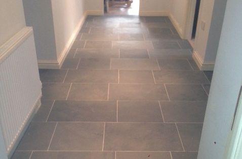 Grey Limestone Floor Tiles For Hallway Flooring Atlanta