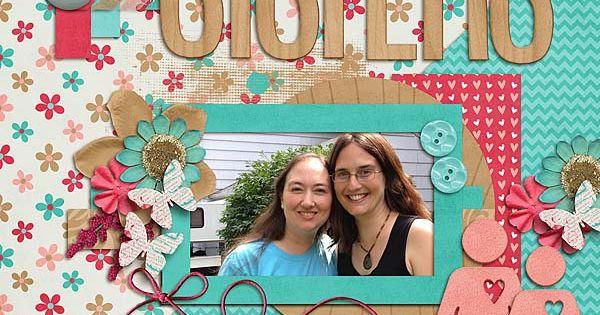 Sisters - Scrapbook.com- Digital layout
