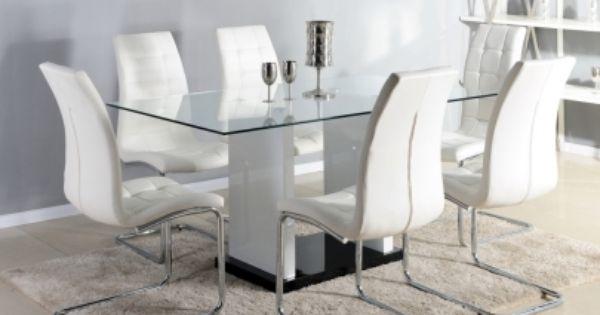 Modelos de pedestales de madera para mesa de vidrio - Comedores modernos en vidrio ...
