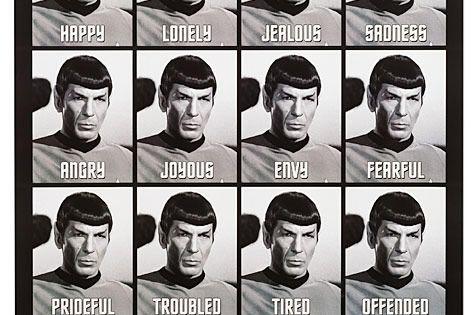 Star Trek Emotions of Spock Poster (Still more expressive than Kristen Stewart)