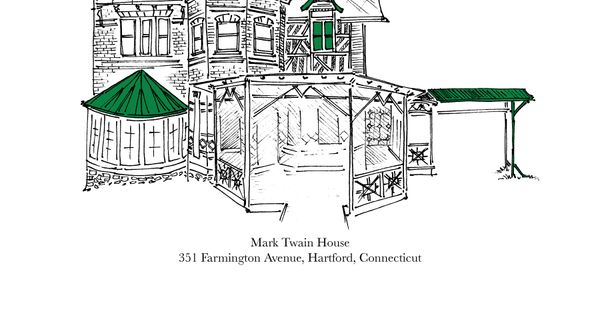 Mark Twain 39 S House Poster Back