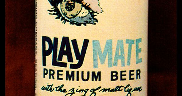"""Canvas Art Poster 18/""""x 24/"""" 1963 Play Mate Premium Beer Beer Cans"""