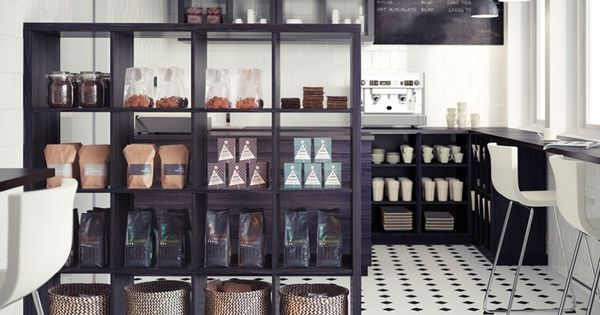 Tag Res Ikea Kallax En Panneaux De Bois Marron Fonc Dans La Cuisine Moderne Hotel De Retz