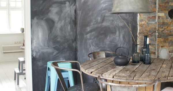 Kabelklos tafel industrial industri le stijl pinterest industri le stijl - Eigentijdse eetkamer decoratie ...