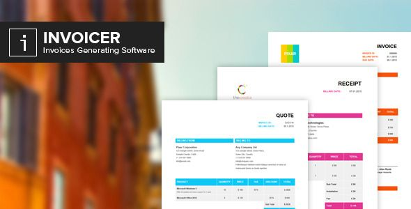 Invoicer Invoices Generator App Invoicing Codecanyon Psd Template Free