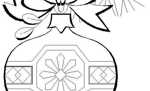 Ornaments Coloring Page For Christmas Jpg 521 215 689
