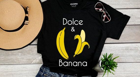 Dolce And Banana Fashion New Women S T Shirt Tee Vegan Shirt Fruit Banana Lover Shirt Vegetarian Shirt Ropa Camisas Disenos De Unas