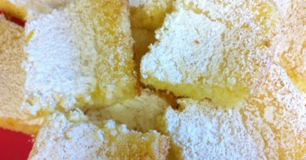 Two Ingredient Lemon Cake Bars All you need is a box of