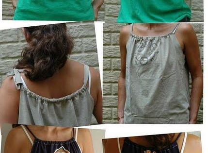How to turn a regular t-shirt into a cute tank top. Totally