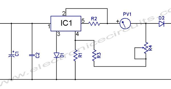 l200 12v constant voltage battery charger circuit diagram