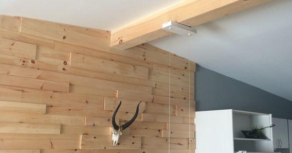 Diy mur de bois et fausse poutre de bois home diy for Fausse poutre de bois
