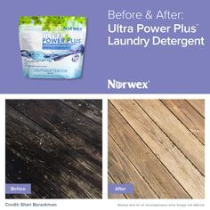 Norwex Before And After Ultra Power Plus Laundry Detergent On A