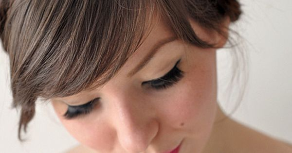 Bridesmaid hair for bangs :)