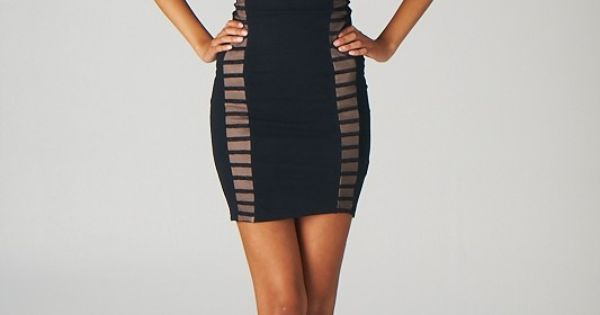 Halter Top Bodycon Dress (Black) - Lavishville