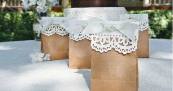 Wedding favors bag idea