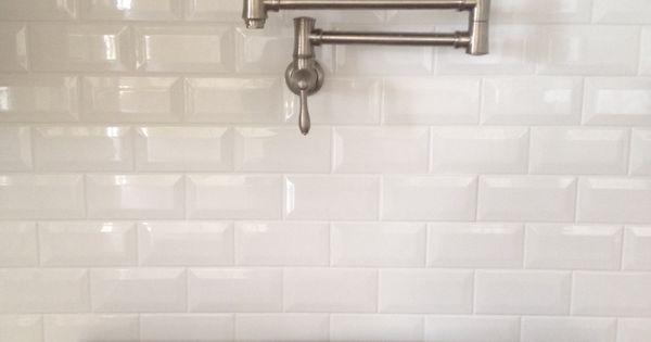 Dal Tile Ritten House Bevel Subway 3x6 Arctic White Glossy