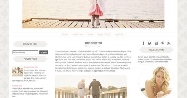 Premade Blogger Template 3 Column Photography Blog