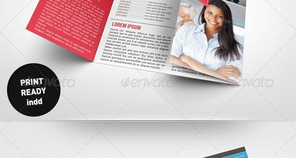 Business brochure gate fold template alphabiz je reve for Je reve d une maison