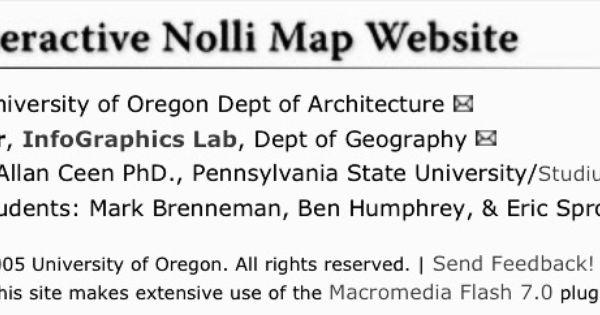 Interactive Nolli Map from httpnolliuoregonedu GIAMBATTISTA
