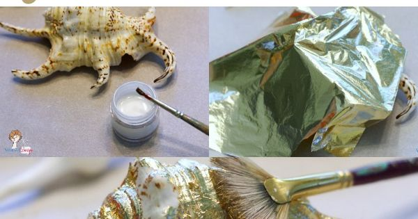 Easy Seashell Craft: How to Make Gilded Seashells with Gold Leaf Paint