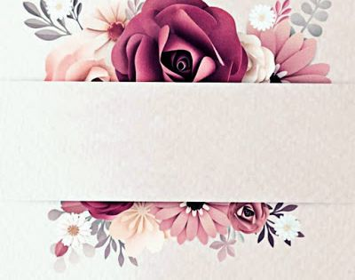 أفضل الصور للكتابة عليها خلفيات و إطارات رائعة للكتابة فيها Floral Poster Floral Border Design Red Paper