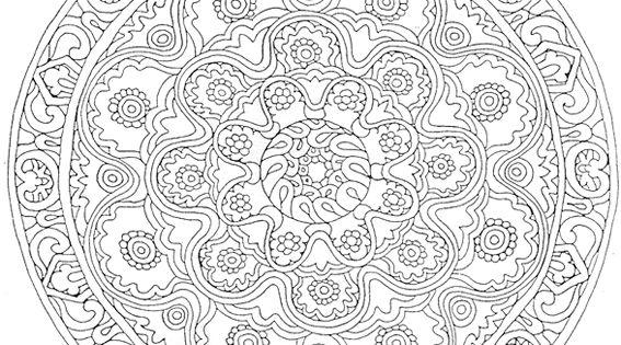 Coloriage Mandala Dessins Et Images Mandala Gratuits à Colorier: Imprimer Mandala, Dessin