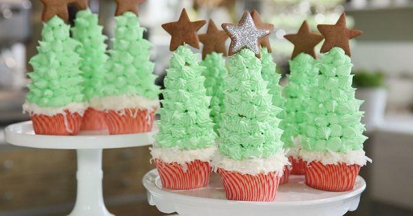 Christmas Cupcakes ⎢Martha Stewart, via YouTube.