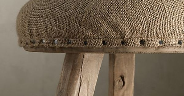 Burlap footstool or you could do a barstool