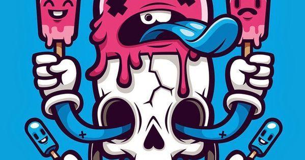 Cute & Funny Pop Art Cartoon Wallpaper For IPhones! Skull