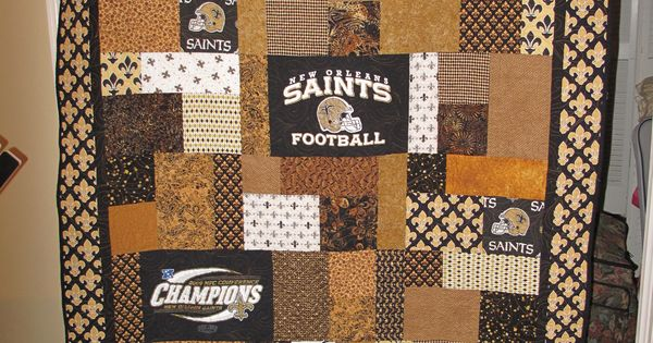 Saints Quilt Using The Short Stacks Pattern From Black Cat
