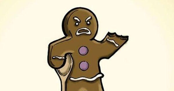 Nom nom nom...Veteran Gingerbread Man