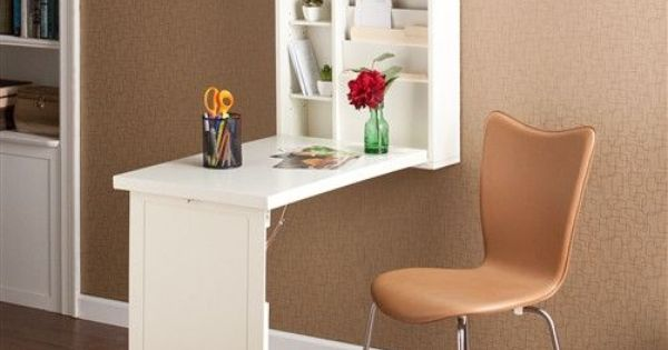 Wall Mounted Convertible Folding Desk In White For The