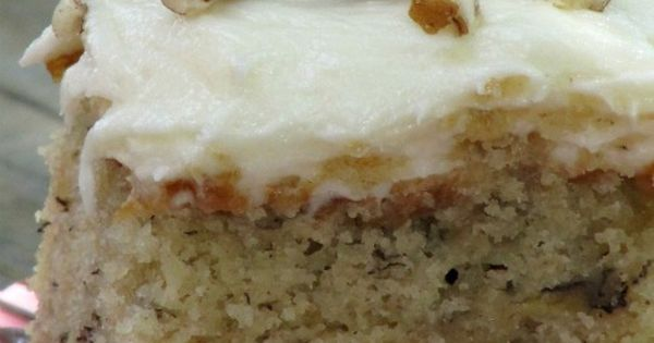 Best Ever Banana Cake with Cream Cheese Frosting. My sweet tooth is