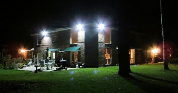 Led Flood Light Creat A Quiet House In The Evening Outdoor Flood Lights Led Outdoor Flood Lights Outdoor Security Lights