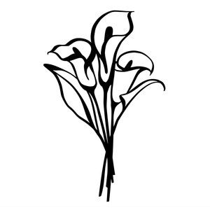 Silhouette Design Store Calla Lilies Calla Lily Tattoos Calla Lily Lilies Drawing