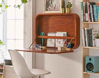 A very cool wall desk perfect for small spaces april 2 for Cool desks for small spaces