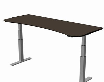 Surfaceworks Stretch Out Focus Shape Standing Desk Size 29 H X