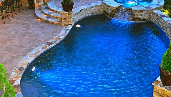 My dream pool area! Hot tub and fireplace! Heated pool for cooler