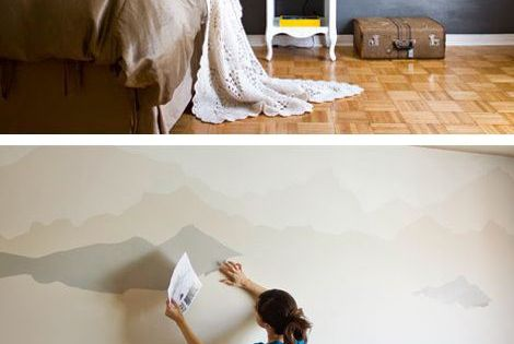 Diy for Diy mountain mural