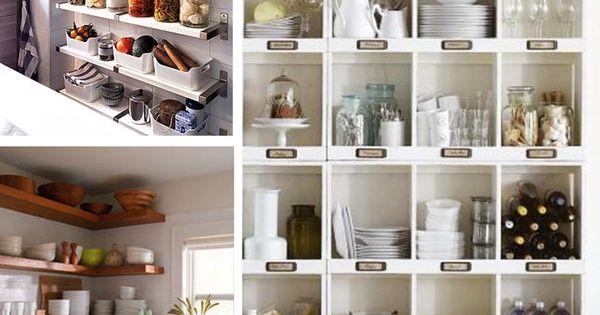7 ideas para poner en orden la cocina baldas estanter as - Baldas y estanterias ...