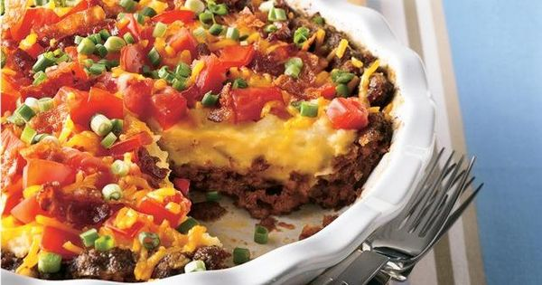 BACON-CHEESEBURGER POTATO PIE (Yeowza!) Food Drink Trusper Tip