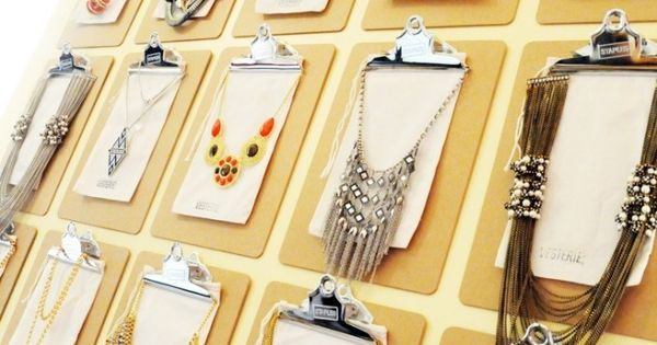A creative way to display jewelry in your store ...